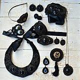 Ozdoby do vlasov - Black&Copper - spona do vlasů - 7668740_