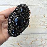 Ozdoby do vlasov - Black&Copper - spona do vlasů - 7668741_