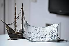 Papiernictvo - kožená mapa k pokladu NAUTIC darček k objednávke lodného denníka - 7670492_