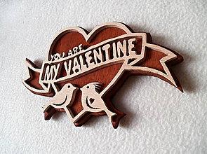 Dekorácie - Valentínske srdce s vtáčikmi - 7670417_