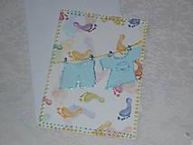 Pohľadnica k narodeniu chlapčeka
