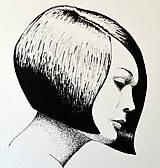 Kresby - Dievča s mikádom - A4 - 7670399_