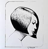 Kresby - Dievča s mikádom - A5 - 7670424_