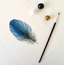 Kresby - Modré pierko - 7670460_
