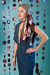 - Bohatý červený vlasový hairclip - 7672836_
