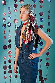 Ozdoby do vlasov - Bohatý červený vlasový hairclip - 7672836_