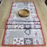 Úžitkový textil - Srdiečkovo ružičková romantika - stredový obrus 142x42 - 7670178_
