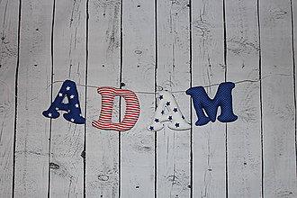 Detské doplnky - Textilné písmená ADAM - 7672498_