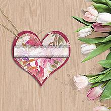Papiernictvo - Valentínska menovka (3 (kvety vintage)) - 7668803_