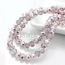 Korálky - Korálky - sklenené brúsené 4x3mm lesklé AB light pink Colorized - 7674485_