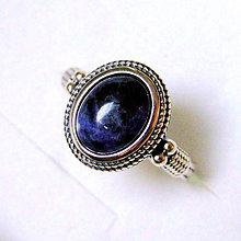 Prstene - Antique Shabby Sodalite & Silver Ag 925 Ring / Strieborný prsteň so sodalitom - 7674148_
