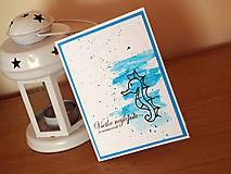 Papiernictvo - Pohľadnica k narodeninám - Morský koník - 7673564_