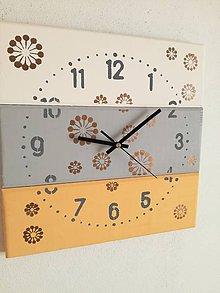 Hodiny - Nástenné hodiny - mosadzné bublinky - 7675898_