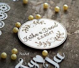 Darčeky pre svadobčanov - Magnetky pre svadobných hostí Koliesko - 7675484_