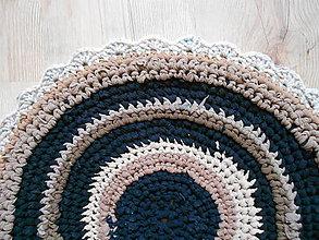 Úžitkový textil - Recy koberček okrúhly - 7677207_