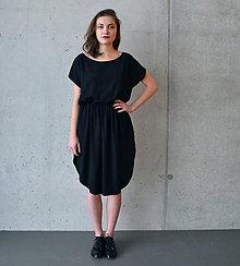 Šaty - Šaty áčko černé - 7676903_