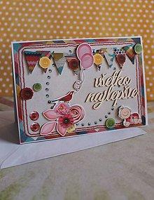 Papiernictvo - všetko najlepšie_ pohľadnica - 7677256_