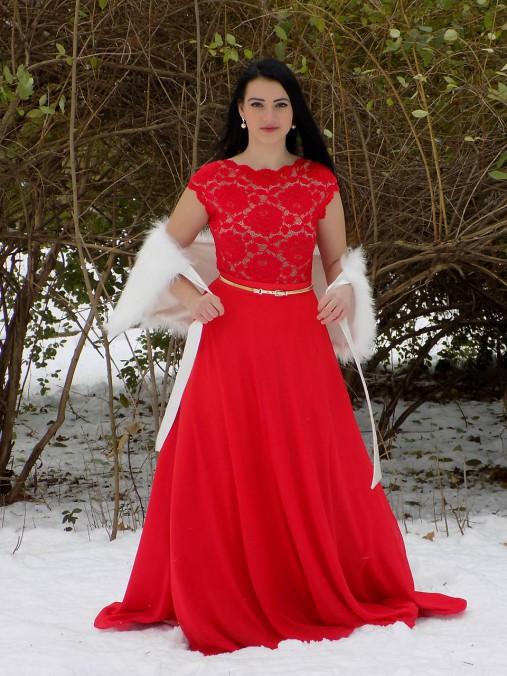 2f2357d20b8e Červené spoločenské šaty   timeas - SAShE.sk - Handmade Šaty