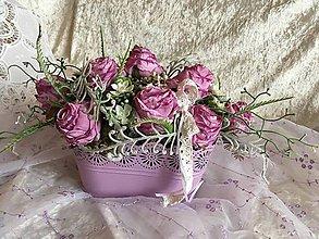 Dekorácie - Ikebana fialová - 7673244_