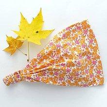 Ozdoby do vlasov - Jesenné oranžové kvety - 7677103_