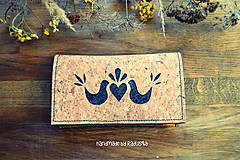 Peňaženky - Korková ľudová peňaženka - 7673525_