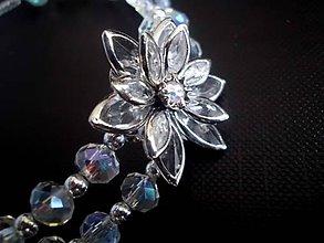 Sady šperkov - krištáľová sada Crystal  AB náhrdelník + náušnice + náramok - 7674840_