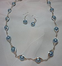 Sady šperkov - Bledomodrá sada - 7677449_