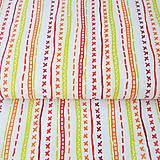 100 % bavlna červené kliky-haky, šírka 160 cm, cena za 0,5 m