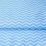 Textil - 100 % bavlna tyrkysový cikcak, šírka 160 cm, cena za 0,5 m - 7676829_