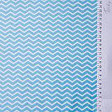 Textil - 100 % bavlna tyrkysový cikcak, šírka 160 cm, cena za 0,5 m - 7676830_