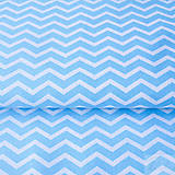 Textil - 100 % bavlna tyrkysový cikcak, šírka 160 cm, cena za 0,5 m - 7676831_