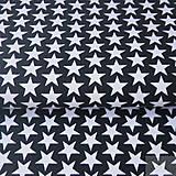 Textil - 100 % bavlna čierne hviezdičky, šírka 160 cm, cena za 0,5 m - 7676860_
