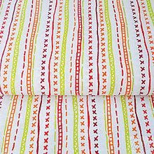 Textil - 100 % bavlna červené kliky-haky, šírka 160 cm, cena za 0,5 m - 7676786_