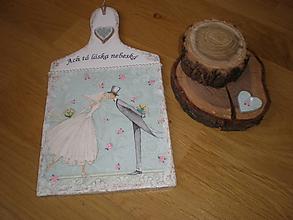 Dekorácie - Svadobná dekorácia - Ach tá láska nebeská - 7675942_