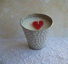 Svietidlá a sviečky - sviečka v plechu - 7674260_