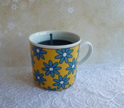 Svietidlá a sviečky - teacup candle / sviečka v šálke - 7674276_