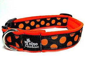 Pre zvieratká - Obojok Oranžová bodka softshell - 7675542_