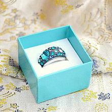 Prstene - Clay - DeCoRé Bermuda blue (skladom veľkosť 56-58) - 7673883_