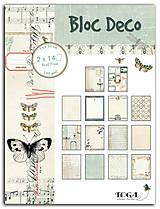 Papier - PB128  Blok papierov 15x20cm, 14designov x 2, 140g/m² Zaujímavosti - 7675091_