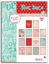 Papier - PB132 Blok papierov TOGA téma LÁSKA 140 g/m², 15 x 20 cm - 7675136_