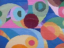 Obrázky - Geometria II., vyšívaný gobelín - 7672997_