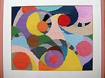 Obrázky - Geometria III., vyšívaný gobelín - 7672998_