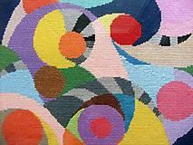 Obrázky - Geometria III., vyšívaný gobelín - 7672999_