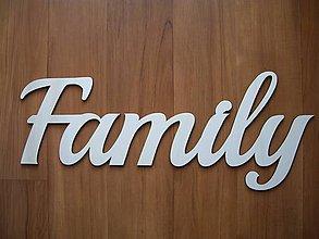 Tabuľky - Nápis Family - 7677501_