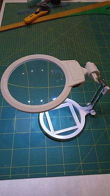 Nezaradené - Lupa na stôl s LED svetlom - 7676754_
