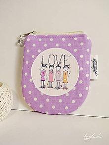 Peňaženky - Len ja a môj svet -  fialová peňaženka - 7673130_