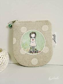 Peňaženky - Len ja a môj svet - zelená peňaženka II. - 7673140_