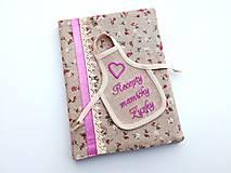 Papiernictvo - Obal + zápisník Recepty mamičky Zuzky - 7674914_