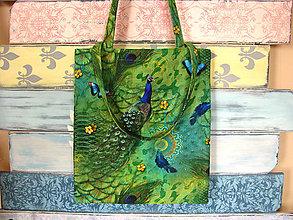 Nákupné tašky - Taška pro paví královnu - 7673031_
