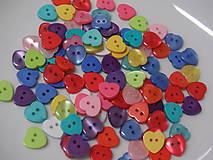 Galantéria - Srdiečka, plastové gombíky, balíček 10 kusov - 7675172_